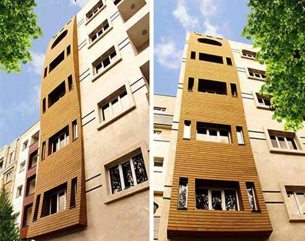 ترموود ، متریالی زیبا در نمای ساختمان