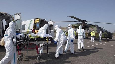 انتقال بیماران کرونایی فرانسه به بیمارستان های آلمان و سوئیس