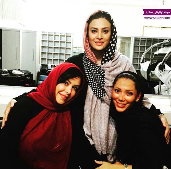 عکس فلور نظری در کنار حدیثه تهرانی و تیما پور رحمانی
