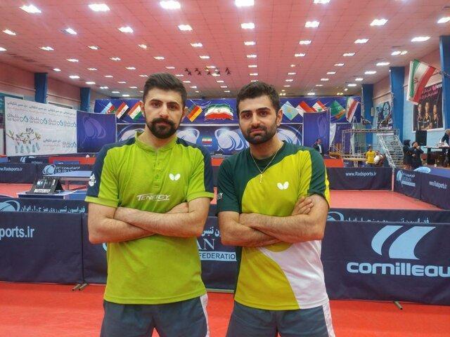 رقابت برادران عالمیان در لیگ تنیس روی میز فرانسه نیمه کاره ماند