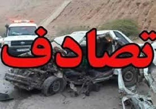 یک کشته و 5 مصدوم در تصادف محور یاسوج -بابامیدان