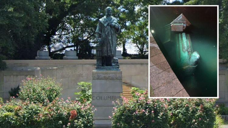 مجسمه کریستف کلمب هم در آمریکا به زیر کشیده شد