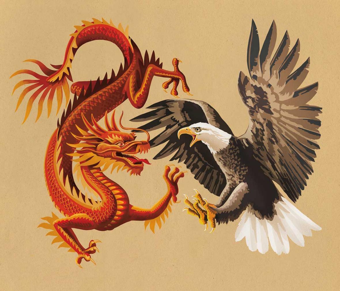 عقاب و اژدها، پنجه در پنجه شدند