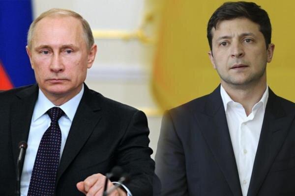 پوتین با رئیس جمهور اوکراین گفتگو کرد