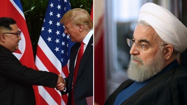 خبرنگاران ادعای ترامپ درباره توافق با ایران و کره شمالی در دور دوم، راهبرد انتخاباتی