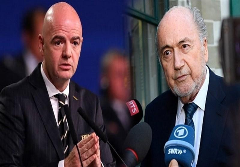 بلاتر: اینفانتینو باید از سمت ریاست فیفا کنار گذاشته شود