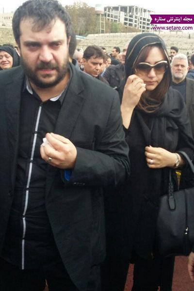 حضور خانواده منصور پورحیدری در مراسم تشییع آن مرحوم