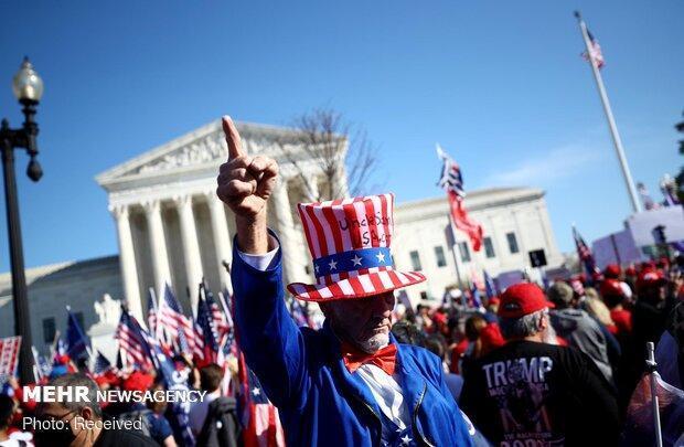 چاقوکشی در اعتراضات خیابانی واشنگتن، یک نفر مجروح شد
