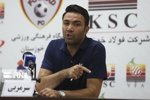 خبرنگاران سرمربی فولاد خوزستان: گل گهر تیم پرمهره و با کیفیتی است